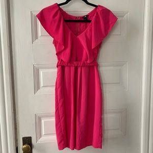 H&M Pink Fuchsia Dress w/ Belt